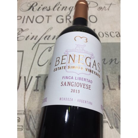 Vinho Benegas Estate Single Vineyard Finca Libertad Sangiovese